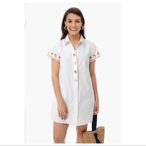 EMBROIDERED DRESS WHITE BY ENGLISH FACTORY NWT M